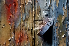 All Locked Up (No Great Hurry) Tags: couleurs surface texture colors colours london centrallondon uk texturedabstract abstract urbanabstract colourful decay weathered flakingpaint paintwork paint nogreathurry robinmauricebarr art light urban wood wooden