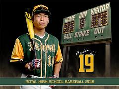 Senior Banner (G2Photo Images) Tags: d750 2470mm vr offcameraflash composite photoshop simivalleyphotographer baseball scoreboard senior player sports