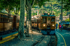 Tram, Soller Mallorca (MartinWin) Tags: tram mallorca orangegroves explore travel balearicislands spain island sun transport soller urlaub holiday