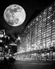 Schuster Performing Arts Center - Dayton Ohio (jeremy.mudd) Tags: peterlikstyle moon dayton daytonohio schuster schustercenter composite supermoon bloodmoon bluemoon blackwhite blackandwhite notreal