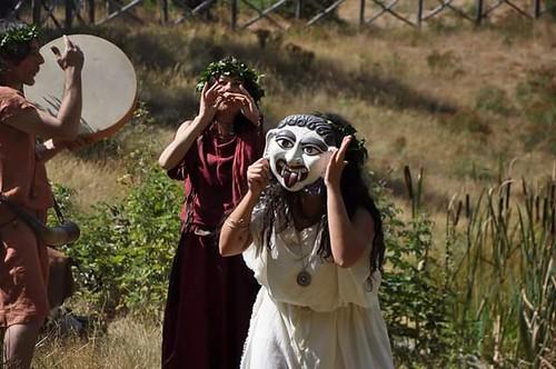 Synaulia #musicaetrusca 🎵 #giornatadeglietruschi 📷] 👹 ::\☮/>>http://www.elettrisonanti.net/galleria-fotografica#popolare #etnica #folk #etno 🙌 @lucemaioli #musica #etruschi #sottosuolo 🔊 #music #dalviv