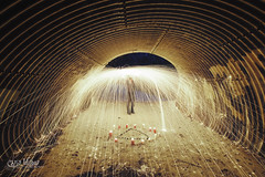 Fight Fire with Fire (wilbias) Tags: light silhouette nighttime dark evening nightfall after long exposure night ritual tunnel