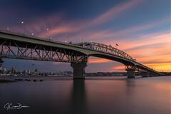 Auckland Harbour Bridge (jcooperbowers) Tags: cityscape newzealand bridge long exposure landscape sunset city auckland harbor harbourbridge