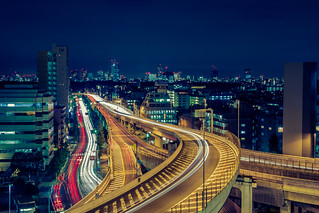 Blue night over Tokyo