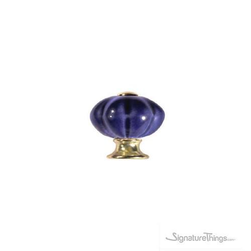 Pumpkin Shape Ceramic Knob | Decorative Cabinet Knob