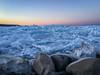Pack Ice Pile-up (Explored) (robin-loo) Tags: ice winter meaford ontario georgianbay dawn greatlakes iphone sunset explored