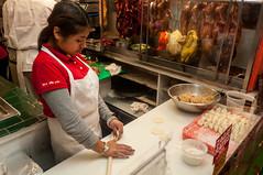 Making Dumplings (Victor Dvorak) Tags: chineserestaurant dumplings handmade washingtondc chinatownexpress food foodporn nikon d300s 20mmf28d