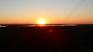 Sunset in Pyhäjärvi, Finland