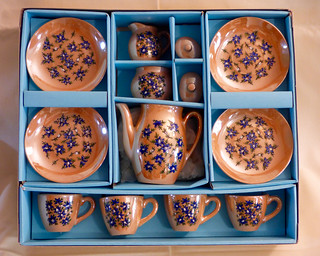 Orange Lustre Tea Set