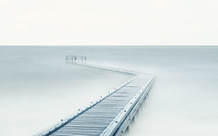 A world without land II (The Black Fury) Tags: sea minimalist minimalism longexposure poselongue normandie seascape blue water winter white jetty