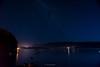 A veces veo formas extrañas en el aire (.KiLTRo.) Tags: nature blue dark panguipulli regióndelosríos chile cl kiltro calafquén sky water lake night stars milkyway longexposure