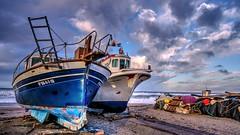 Barcos varados (zapicaña) Tags: cabodegata cielo clouds beach barco boat barca almeria andalucia arena zapigata spain sand sur south nubes nwn