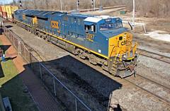 Q008 in Marion (craigsanders429) Tags: csx csxtrains marionohio csxinmarionohio railfanninginmarionohio csxlocomotives csxmotivepower shadows lightandshadows csxstacktrains stacktrains