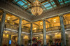 Lobby of the Joseph Smith Building (donnieking1811) Tags: utah saltlakecity josephsmithbuilding lobby chandelier lights skylights columns balcony ornatepatterns stairs people chairs hdr canon 60d lightroom photomatixpro architecture