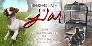 JIAN Weekend Sale 3/23-25