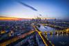 Frankfurt am Main during sunset (Tbui15) Tags: frankfurtphotowalkfeb2018skyline wolkenkratzer sunset sonnenuntergang sonya7rii zeiss batis 18mm