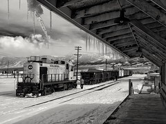East Ely winter (rolfstumpf) Tags: usa nevada nevadanorthern ely alco rs3 nnry109 trains yard depot station freight wood snow winter ice icicles ore oretrain railway railroad olympus e520