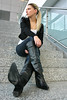 Antonia 61 (The Booted Cat) Tags: sexy long blonde hair model girl business woman tight blue jeans leather boots heels cowboyboots