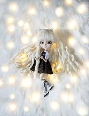 Shinny (Pullip Nana Chan) (Zatannilla) Tags: pullip pullips pretty planning white whitehair pullipnanachan nanachan nana curly cat toys toy doll dolly dress dolls lunares nenas muñeca muñecas groove