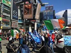 The St. Patrick's Day Parade (the factory wall) Tags: stpatrick parade toronto canada