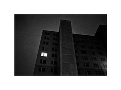 Midnight (Marek Pupák) Tags: blackandwhite monochrome bw blackandwhitephotography documentary street window night midnight streetphotography light fujifilm fuji photography slovakia country europe