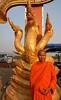 monk as tourist (geneward2) Tags: monk tourist thailand orange