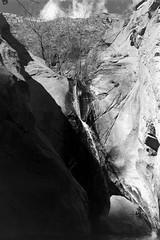 Tahquitz Falls (bac1967) Tags: tahquitz canyon tahquitzcanyon palmsprings palmspringsca palmspringscalifornia california ca kodak tmx tmax kodaktmx kodaktmax kodaktmx100 black white blackandwhite blackandwhitefilm blackwhite bw monochrome monotone kodakmedalist 620 620film landscape clouds boulder rock rockformation sky waterfall stream creek cahuilla caliente aguacaliente irrigationditch beerol beerenol pabstblueribbonbeer caffenol