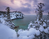 Snowy Twilight (andrewpmorse) Tags: winter lake lakehuron brucepeninsula brucepeninsulanationalpark nationalpark nationalparks ontario canada canon5dmarkiv canon 5dmarkiv leefilters leelandscapepolarizer lee06ndgrad ice snow twilight evening hiking landscape landscapes