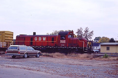 GB&W RS3 #308 in Green Bay WI on 10-10-81 (LE_Irvin) Tags: gbw greenbaywi rs3