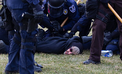 (Mark William Brunner) Tags: police arrest protester security michigan msu violence rowdiness photojournalism news