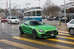 Green Beast (Nico K. Photography) Tags: mercedesbenz amg gtr green supercars rare nicokphotography rain wet switzerland zürich