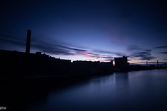 Lowell Sunset (MikeWeinhold) Tags: lowell sunset clouds mills smokestack 6d 1740mm merrimackriver
