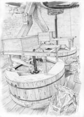 Holgate Windmill, York: The Stone Floor