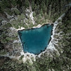 Mikado (Fabian Fortmann) Tags: bavaria germany deutschland bayern see lake eibsee alps mikado trees water green blue snow winter schnee drone birdseyeview drohne dji mavic
