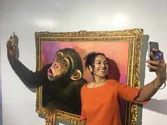 selfie with the chimp, 2 (olive witch) Tags: 2018 abeerhoque chennai day funny india indoors jan18 january madras me museum painting