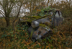 En planque (L'empreinte du temps) Tags: nature végétation oldcar car aventure oublié souvenir memoire temps ancien manfrotto 60d old past passé exploring abandoned architecture abandonné exploration urbex france friche 2018 canon decay patrimoine travel culturel closed rouille ruine ruined frosaker