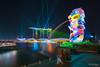 i Light Marina Bay 2018 - Elements of Life (leslie hui) Tags: cityscape marinabaysands marinabay ilightmarinabay city sonyalpha singapore sonya7rii mbs marinabaysingapore