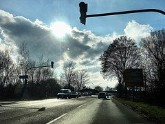 #Gegenlicht (RenateEurope) Tags: trees streetphotography sky clouds sunset 2018 iphoneography b9 rheinland germany