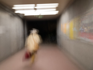 old women  leaving subway station in Munic