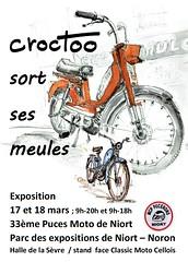 Croctoo sort ses meules les 17 et 18 mars à Niort (Croctoo) Tags: croctoo croctoofr croquis crayon aquarelle watercolor moto mécanique mecanique auto expo niort