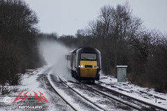 Not rain nor snow nor sleet nor hail (CS:BG Photography) Tags: class43 hst 43378 highspeedtrain intercity125 crosscountryroute xc crosscountry tamworth tam