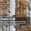 Daily Bible Verse - Psalm 31:24 (daily-bible-verse) Tags: bless lessons christianlockscreen picoftheday