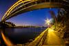 Enlightened Path (Jens Haggren) Tags: bridge path lights reflections water happyfencefriday hff sky fence svindersviksbron svindersviken nacka sweden olympus em1 samyang75mm jenshaggren