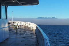 Into the Fog (PDX Bailey) Tags: mountain landscape ocean pacific sky blue sea fog ferry ship
