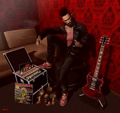 _t h e t r o o p e r_ (https://tobeoutsider.wordpress.com) Tags: secondlife fashion man new guitar badhairday qessentials zombiesuicide versov imesh beard d23 angelicdesigns thedarknesschamberfair clixposes