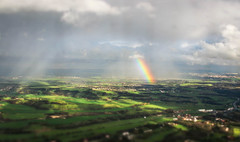 Chasing Rainbows (Andy.Gocher) Tags: andygocher canon100d canon100dsigma18250 sigma18250 miniaturemode tiltshift landscape clouds rainbow europe italy naples windowseat flying aeroplaneseat aerial