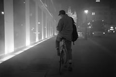 Vienna (fabiolug) Tags: man bike bicycle cyclist hat night fog light lights people street streetphotography vienna wien austria leicammonochrom mmonochrom monochrom leicamonochrom leica leicam rangefinder blackandwhite blackwhite bw monochrome biancoenero 35mmsummicronasph 35mmf2summicronasph summicronm35mmf2asph summicron35mmf2asph 35mm summicron leicasummicron leica35mm