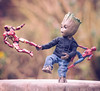 Groot Play Time (jezbags) Tags: groot play time marvel marvelstudios toy toys bandai hottoys sideshow macro macrophotography macrodreams canon canon80d 80d 100mm closeup upclose guardiansofthegalaxy infinity war avengers