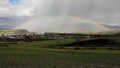 Beautiful Nature... (b.kuehweidner) Tags: regen regenbogen rain rainbow hill hügel fluss river sonne sun sunshine