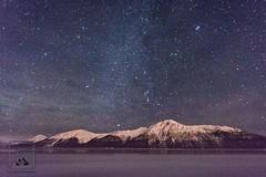Starry Sky (fentonphotography) Tags: astrophotogtaphy nightscape night nightphotography stars starscape mountain snowcoveredmountains alaskanwinter alaska panorama landscape